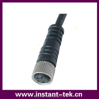 INST m8 cable connectors Fully molded construction withstand shock and vibration