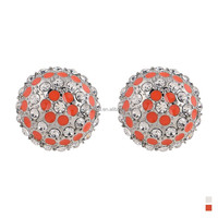 Korean Concise Design Big Fashion Round Shape Fancy Stud Earring
