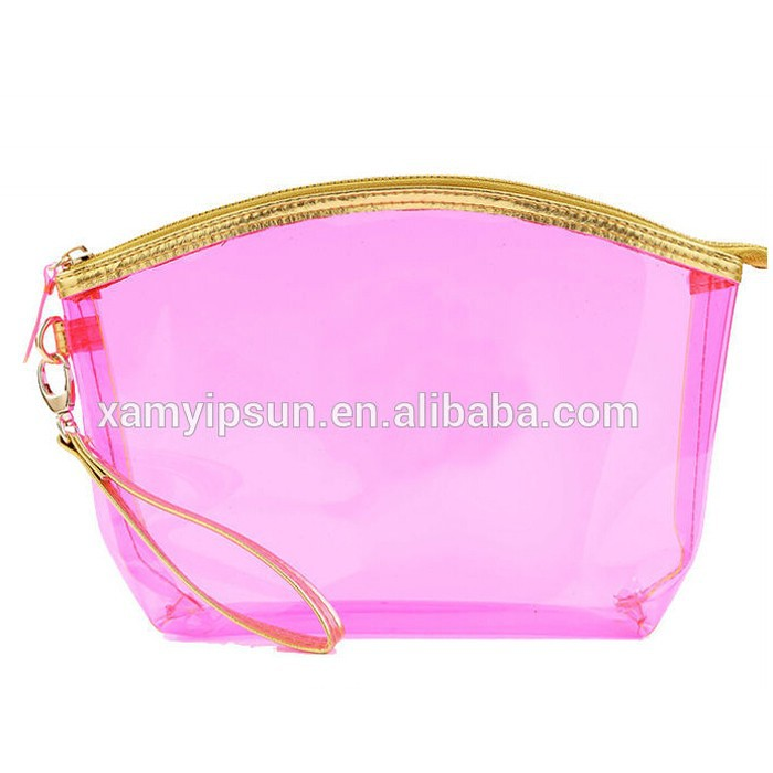 2015 Promotional Travel Clear Plastic PVC makeup bag/cheap cosmetic bag