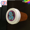 China Wholesale High Quality Heat Transfer Printing Reversible Caps Plastic Vials With Snap Cap And Child Safety Cap
