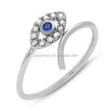 PES Fashion Jewelry! Unique Evil Eye Ring Micro Pave Set AAA CZ (PES6-1430)