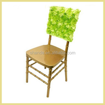 new style rosette chair cap /stain rosette chair sash ,wedding chair decoration