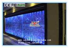 Hilton hotel corridor lobby wall decor water feature panels with bubble