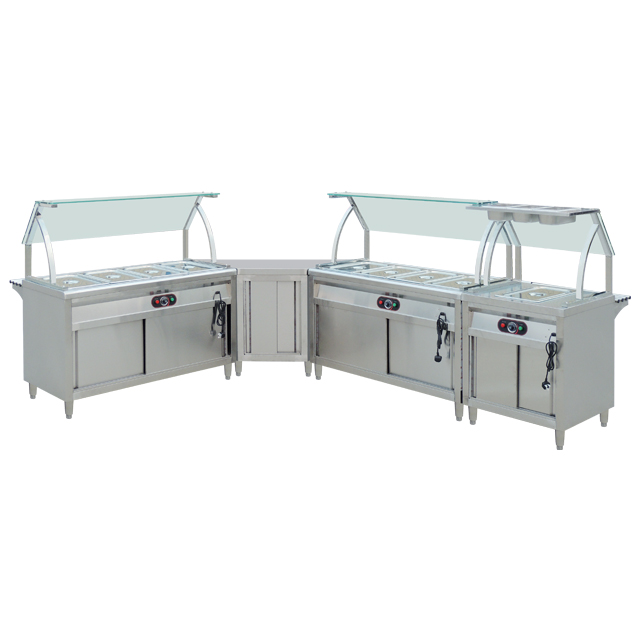 Commercial Electric Restaurant Stainless Steel Free Standing Buffet Warmer/ Bain Marie For SaleBN-B01