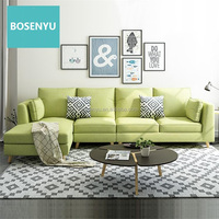 Big Capacity Chaise Sofa L Shape