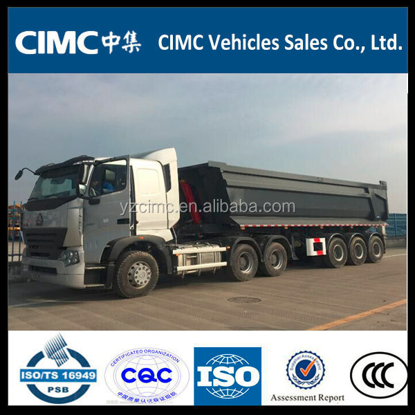 CIMC 3 axles U tipper semi trailer 24CBM for Vietnam