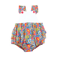 New Style Printed Formal 95% Cotton And 5% Spandex Baby Clothes Baby Summer Romper Sets Babywear