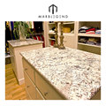 Polishing surface white granite countertop decoration bianco antico