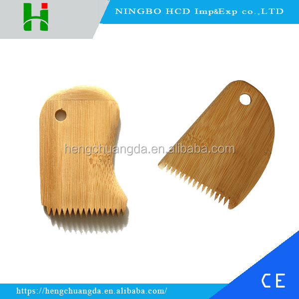 Custom eco-friendly bamboo surf wax comb in surfing
