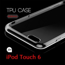 0.5mm Ultra Thin TPU Transparent Clear Protective Case for iPod Touch 6