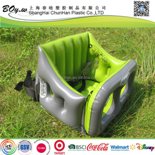 ICTI factory safety single small sofa vehicle travel air kids chair pvc child inflatable safety seat in car
