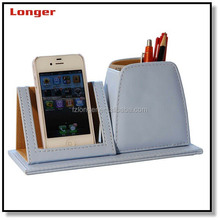 Hot sale useful office faux leather pen holder for Promotional
