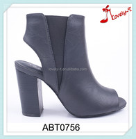 Insolent woman sexy summer slingback open toe high heel boots with side zipper