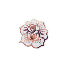 Cheap Custom Made White Flower Lapel Pins