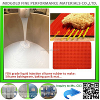 Food grade liquid injection molding silicon rubber for silicon baking mat