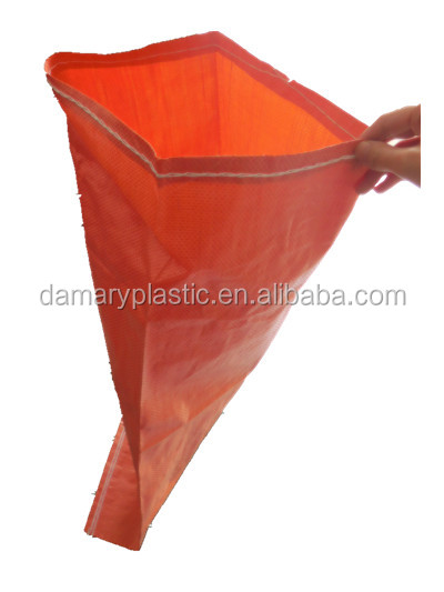 Factory supply pp woven bags with <strong>orange</strong> color