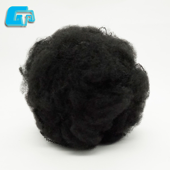 LOI 32 Flame retardant spiral hollow conjugated black fiber