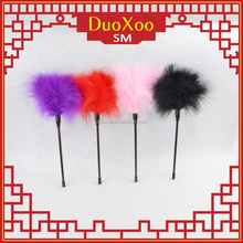 Colorful sm toys Black Red Pink Interest feathers paddle tickler for enhanced arousal during foreplay