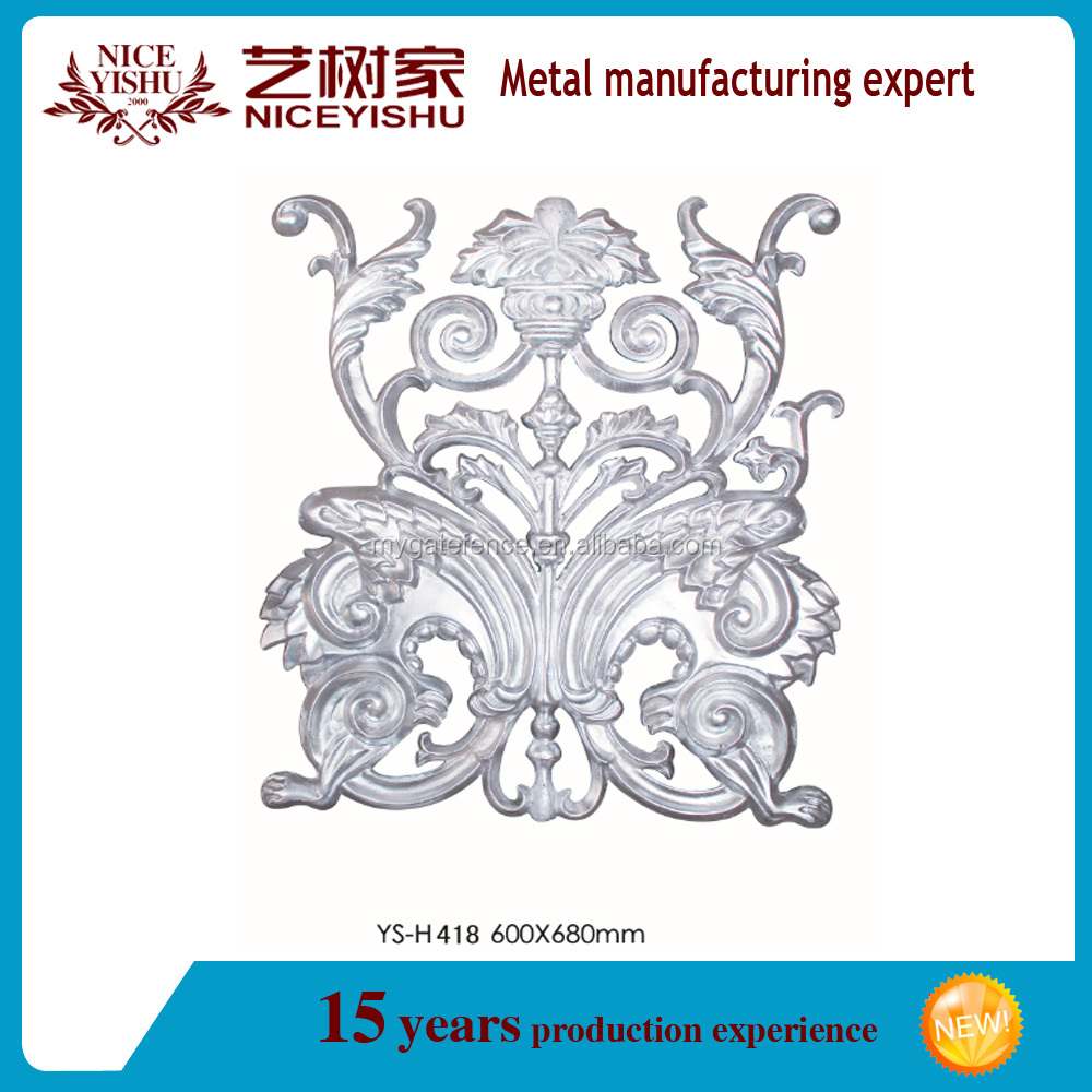 ornamental beautiful artistic cast aluminum railing ornaments from china manufacture on 2016