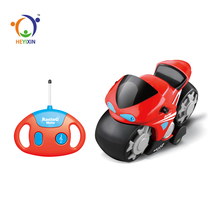 2018 hot sale cartoon plastic kids easy control toy rc motorcycle with cute gamepad
