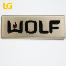 ISO9001 OEM China customized fashion design metal nameplate for bicycle