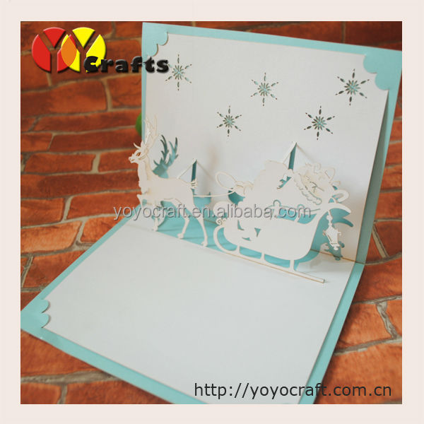 hot sell 2015 new products party decoration bulk flower pop up 3d laser cutting greeting card