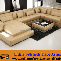 2016 Milano Big Leather Sectional Sofa