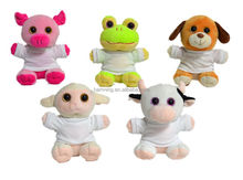 ASTM SGS BV Standard 16cm plush toy stuffed animal with T--shirt Frog Pig