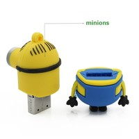 New Pendrive Minions usb flash drive u disk 64GB 32GB 16GB 8GB 4GB Despicable Me 2 Pen drive Memory stick flash card lovely