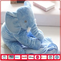 Mom and Baby Funny Plush Elephant 2 in 1 pillow blanket
