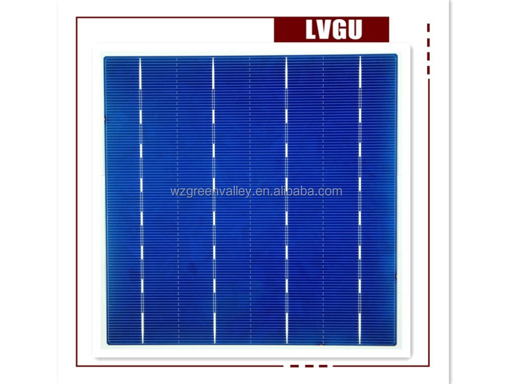 A grade photovoltaic 6 inch polycrystalline solar cell on stock