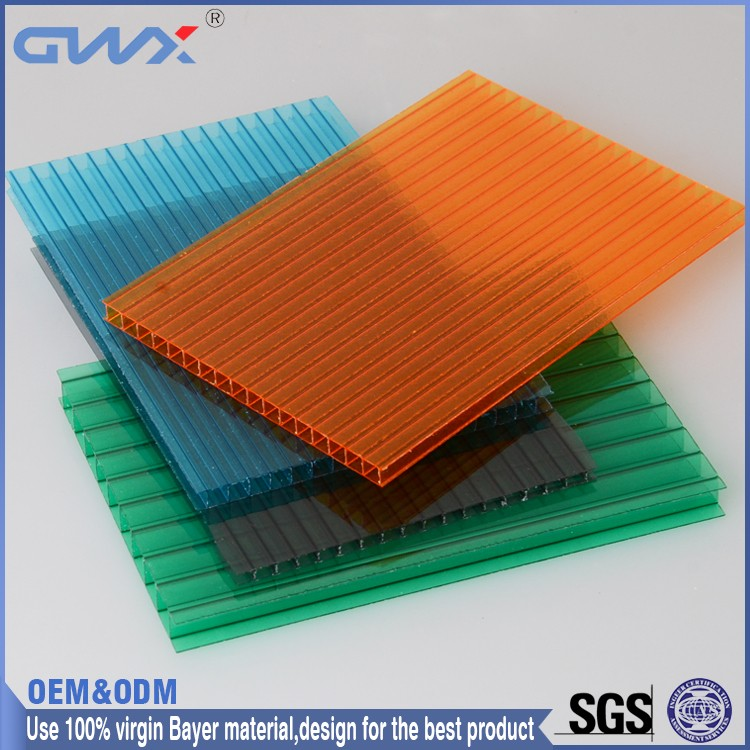 Fire Retardant Grade B1 6MM Twin Wall Solar Panel