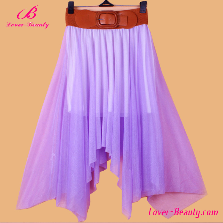 China Factory Mini Pleated Skirt Purple Skirt Wholesale