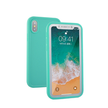 Green soft tpu shockproof protective waterproof case for iphone X case cover waterproof dustproof