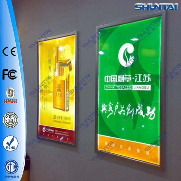 led lighted up fabric graphic display outdoor aluminum snap frame