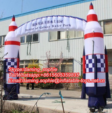 Outdoors Promotional Inflatable Rocket Arch Way