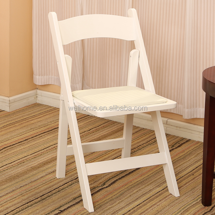 cheap white wood folding wedding chairs factory