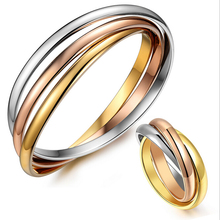 Fashion Fine Jewelry Top Quality Stainless Steel Triple Bracelets Bangles Brand Couples Bracelets For Women Or Men S3-0233