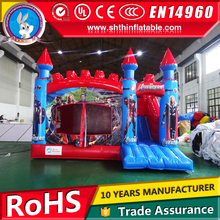 PVC tarpaulin inflatable jumping castle, bouncer castle, air castle for kids on sale