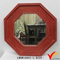 home goods octagon handmade red framed mirrors