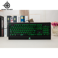 In stock led backlight adjustable computer keyboard stand gaming