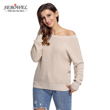 Aprioct Cross Back Hollow-out 100% Cotton Women Knitted Sweater