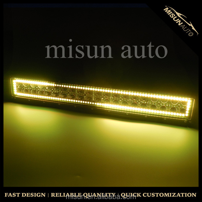 New arrival!remote control fog driving lamps 3D flash led light bar flood/spot yellow white light for truck