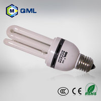 Glass cover CFL U shape energy saving light 5w -36w