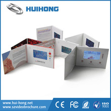 Custom printing lcd display video greeting card for marketing and presentation