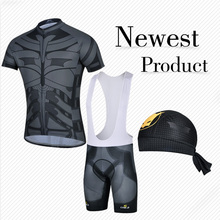 Hot Sale 2014 Batman Sports Biking clothes cycling jerseys bib short set mens wholesale Group sets