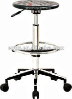 Adjustable swivel lab furniture stool, school laboratory furniture chairs