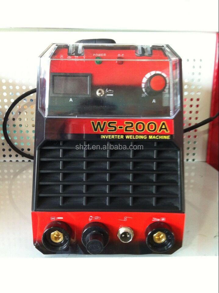 WS-200 New portable IGBT tube inverter dc tig / mma welding machine