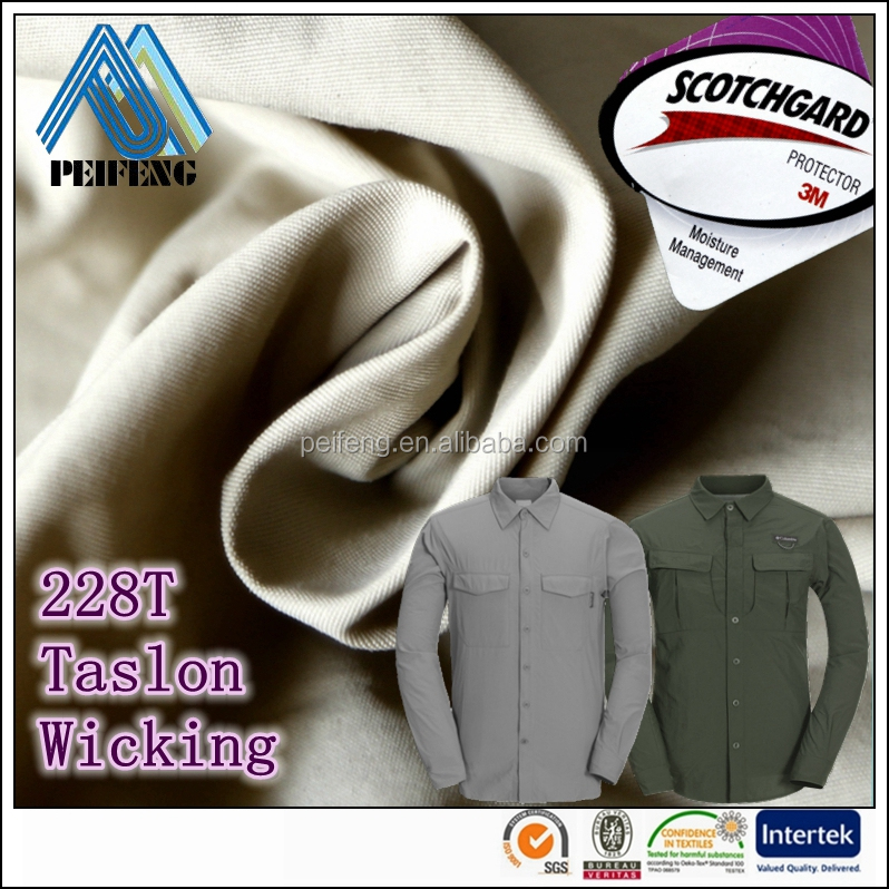 TT2228618 Moisture Wicking 228T 70D*160D 100% supplex nylon taslon fabric for outdoor shirt wicking moisture absorbing fabrics