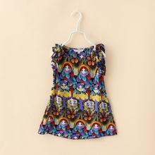 MS65362C boho style chiffon kids childrens casual dress